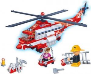 122 Piece BanBao Police Chopper Building Kit