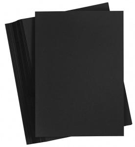 Colortime karton A6 200 gram zwart 100 vellen