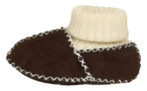 Playshoes baby shoes elastic strap dark brown