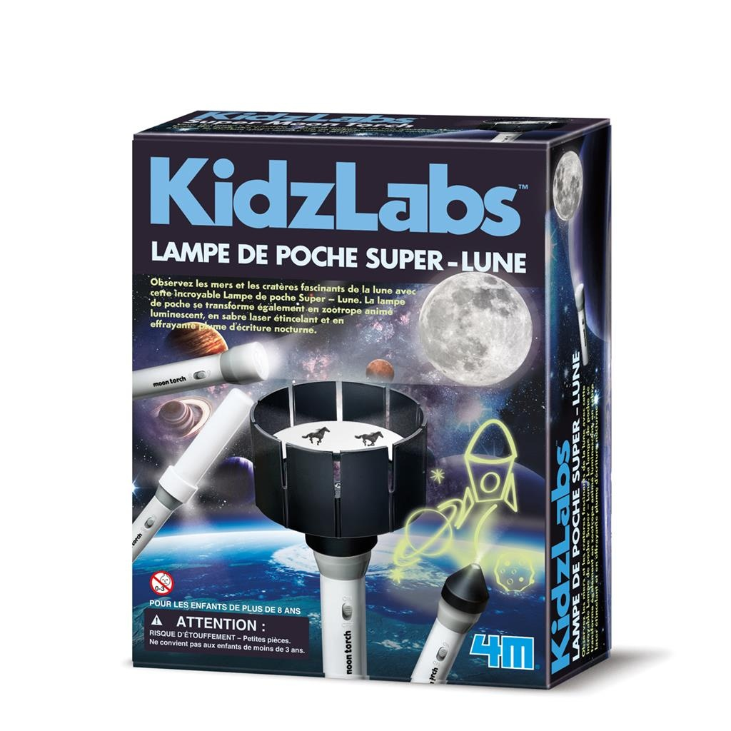 super flashlight moon construction kit (French)
