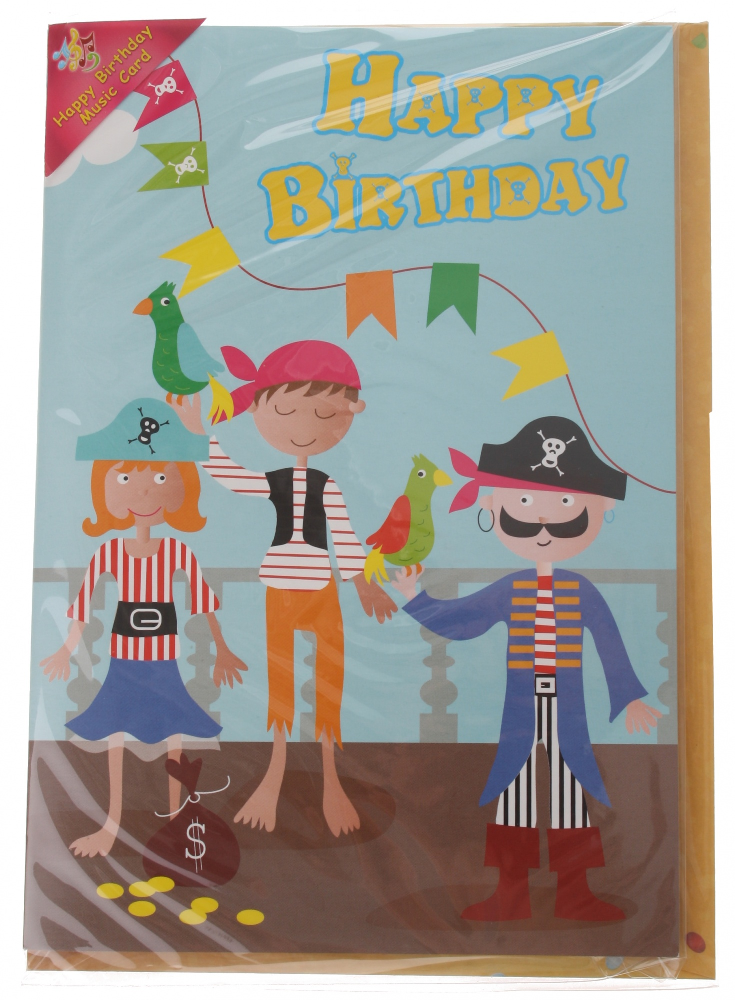 birthday card with sound pirate 20cm