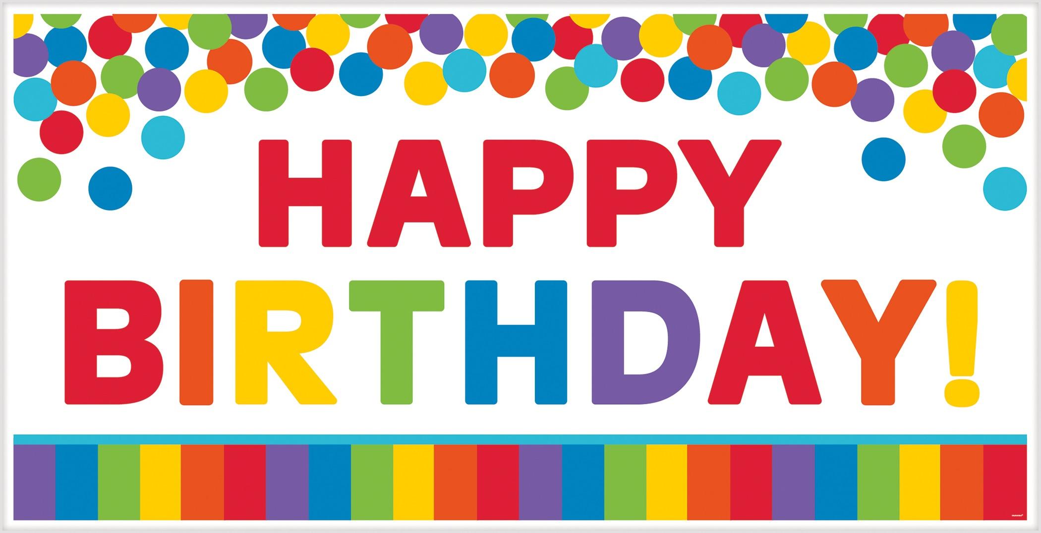 Amscan birthday banner Happy Birthday multicolor 165 x 85 ...