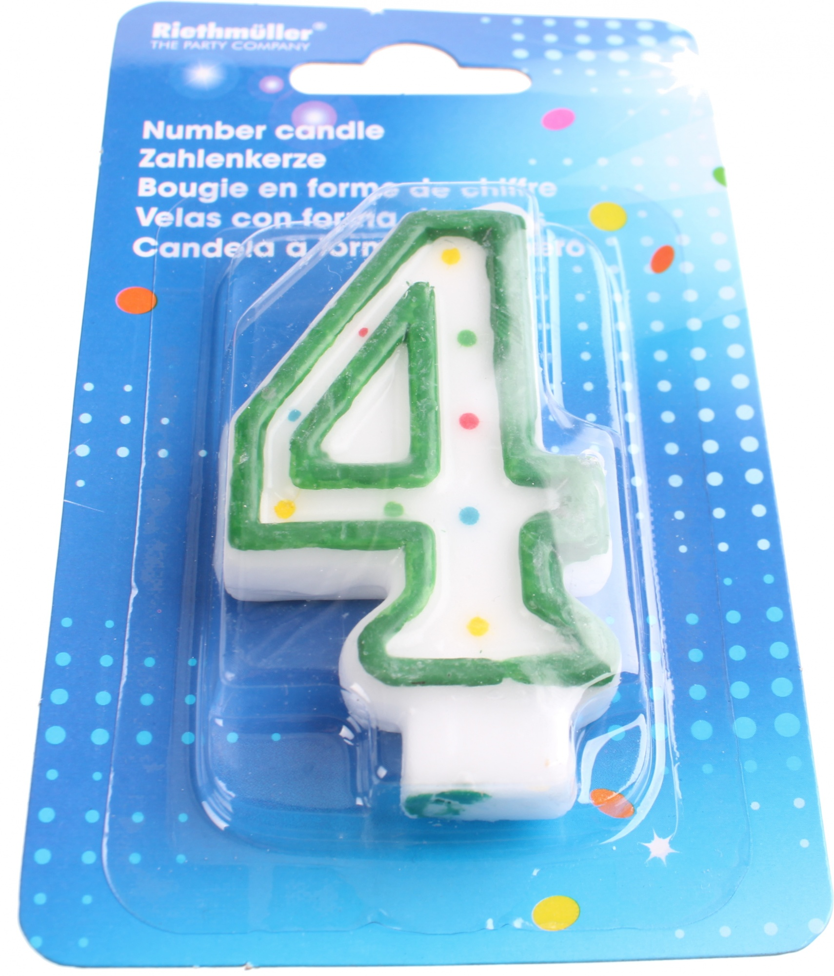 Amscan Birthday Candle Figure 4 Green