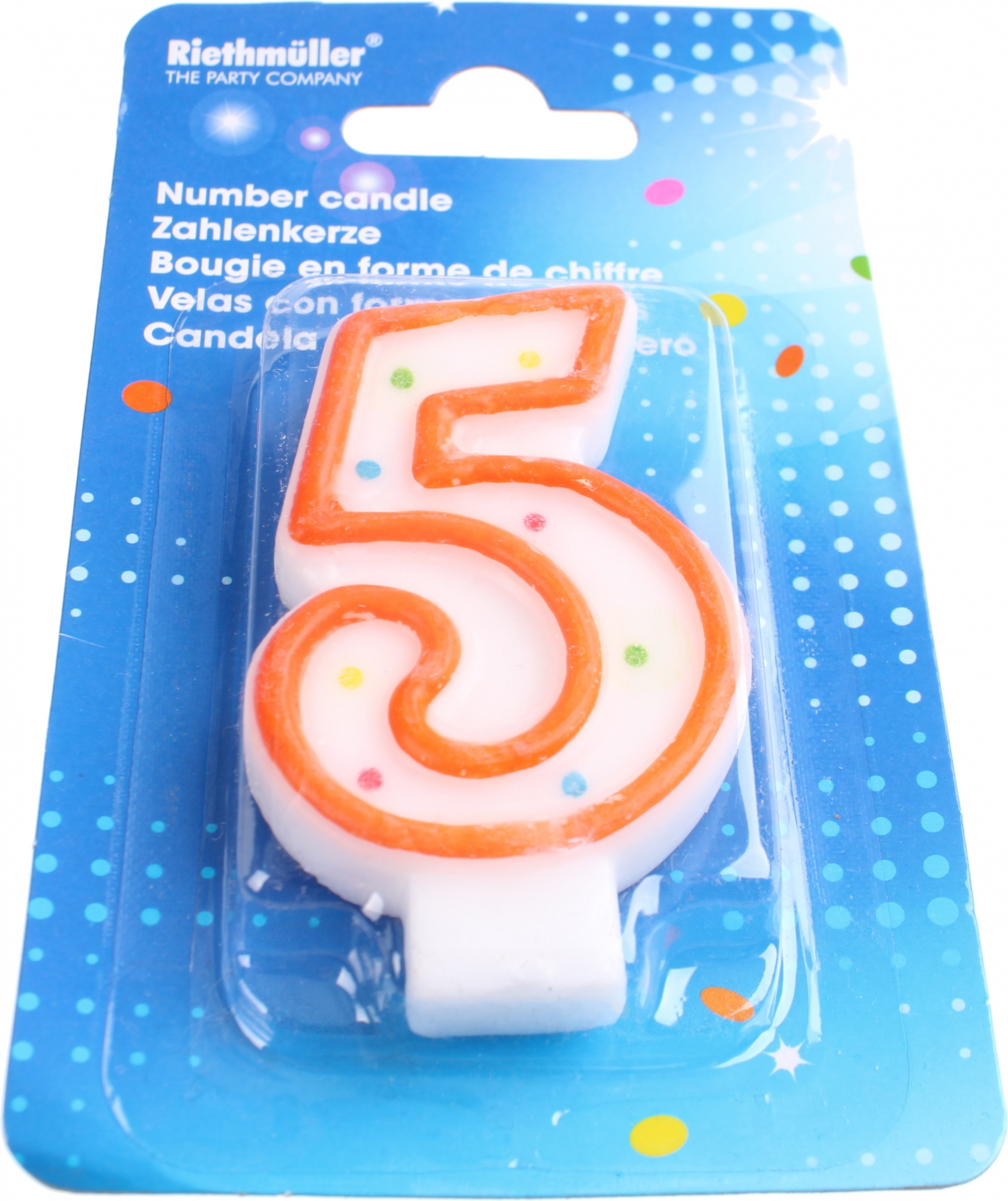 Amscan Birthday Candle Number 5 Orange