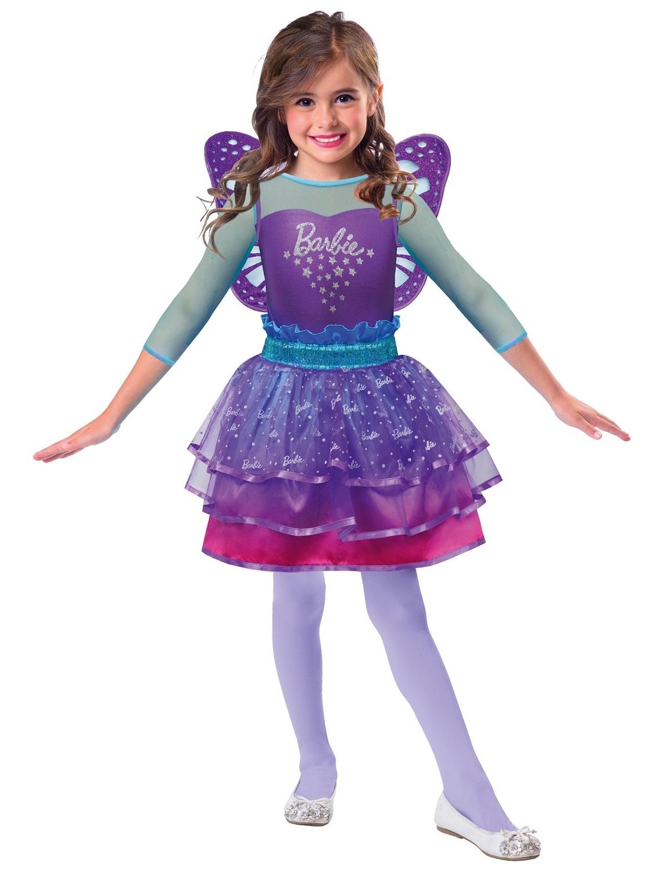 in stock new collection large discount Déguisement Barbie Barbie fée arc-en-ciel violet 3-5 ans
