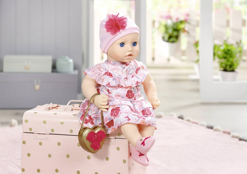 Baby Annabell clothes set Deluxefor doll up to 43 cm pink ...