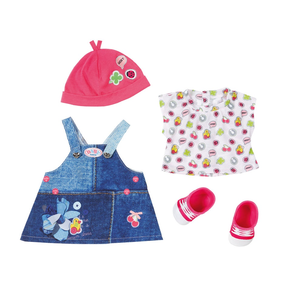 dffcc45c27ce80 BABY born deluxe clothing set with shoes pink - Internet-Toys