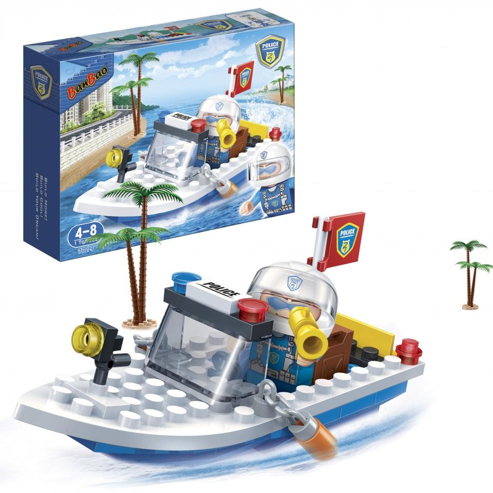 BanBao construction kit Police boat 62-piece - Internet-Toys
