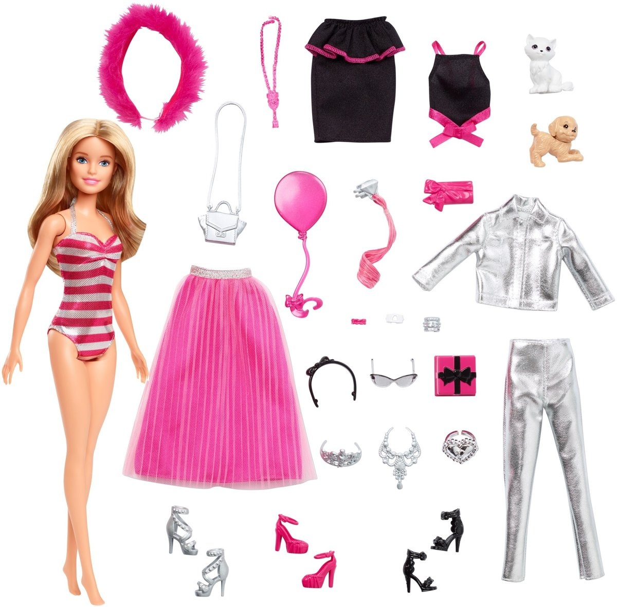 Weihnachtskalender 2019 Mädchen.Barbie Adventskalender 2019 Mädchen Rosa 24 Teilig Internet Toys