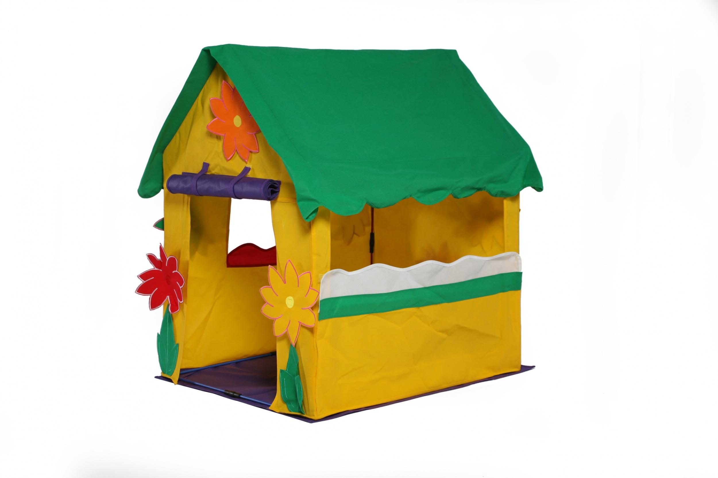 Bazoongi Kids tente de jeu maison de jardin 97 x 76 x 112 cm jaune ...