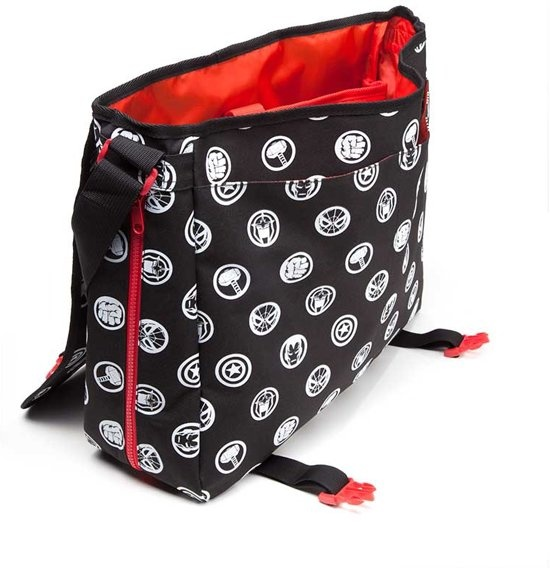 shoulder Internet Toys black liter Comics Marvel bag Bioworld 7 5 EpqCxw6