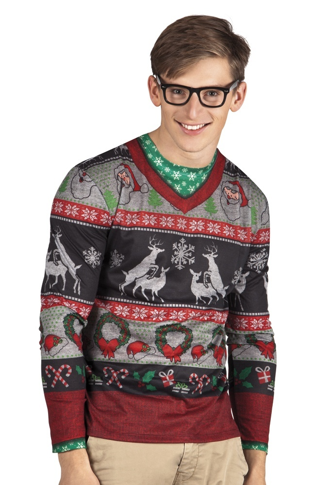 Kersttrui Man.Boland Christmas Jersey Silly Christmas Men Internet Toys
