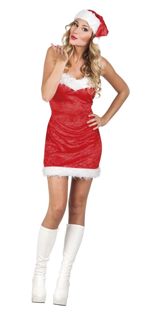 Kerst Jurk M.Kerstjurk Dames Rood Maat M