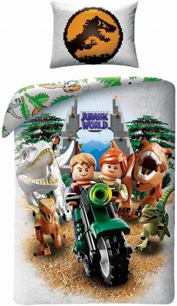 Character World Bettwäsche Lego Jurassic World 140 X 200 Cm