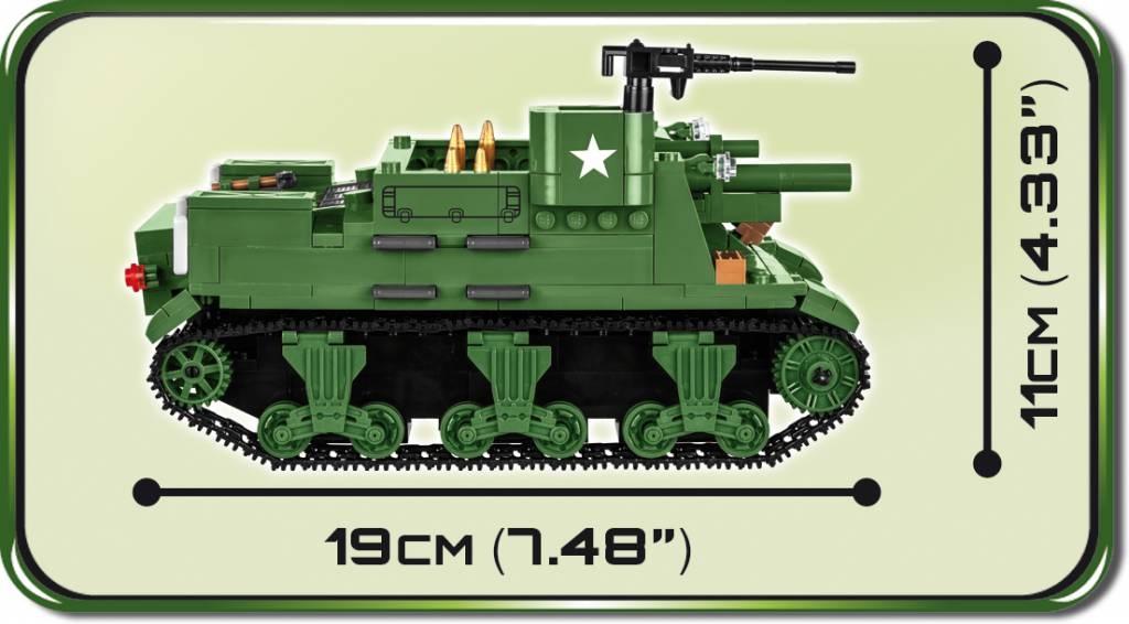COBI 2386 M7 Priest 105mm HMC Amerikanische Haubitze mit Eigenantrieb Spielzeug