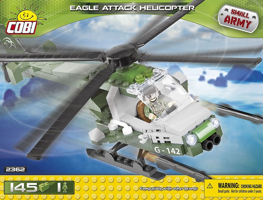 Small Army Eagle Attack Helicopter kit 145-piece 2362