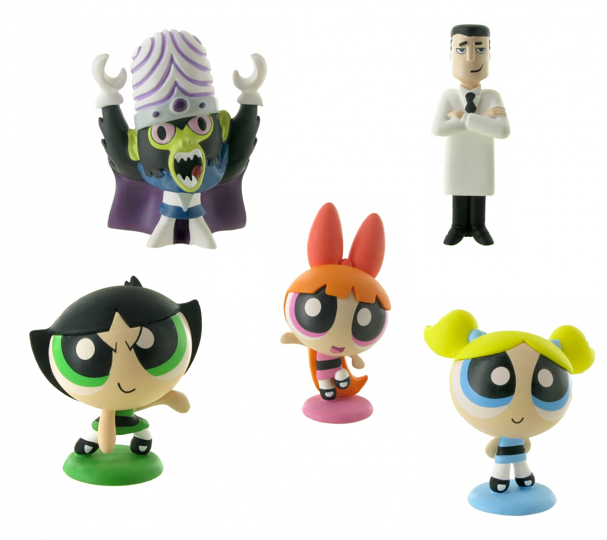 comansi play figures set power puff girls 24-pieces