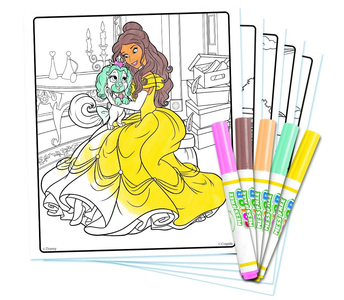 Crayola Color Wonder Coloring Book Disney Princess 18p Coloring