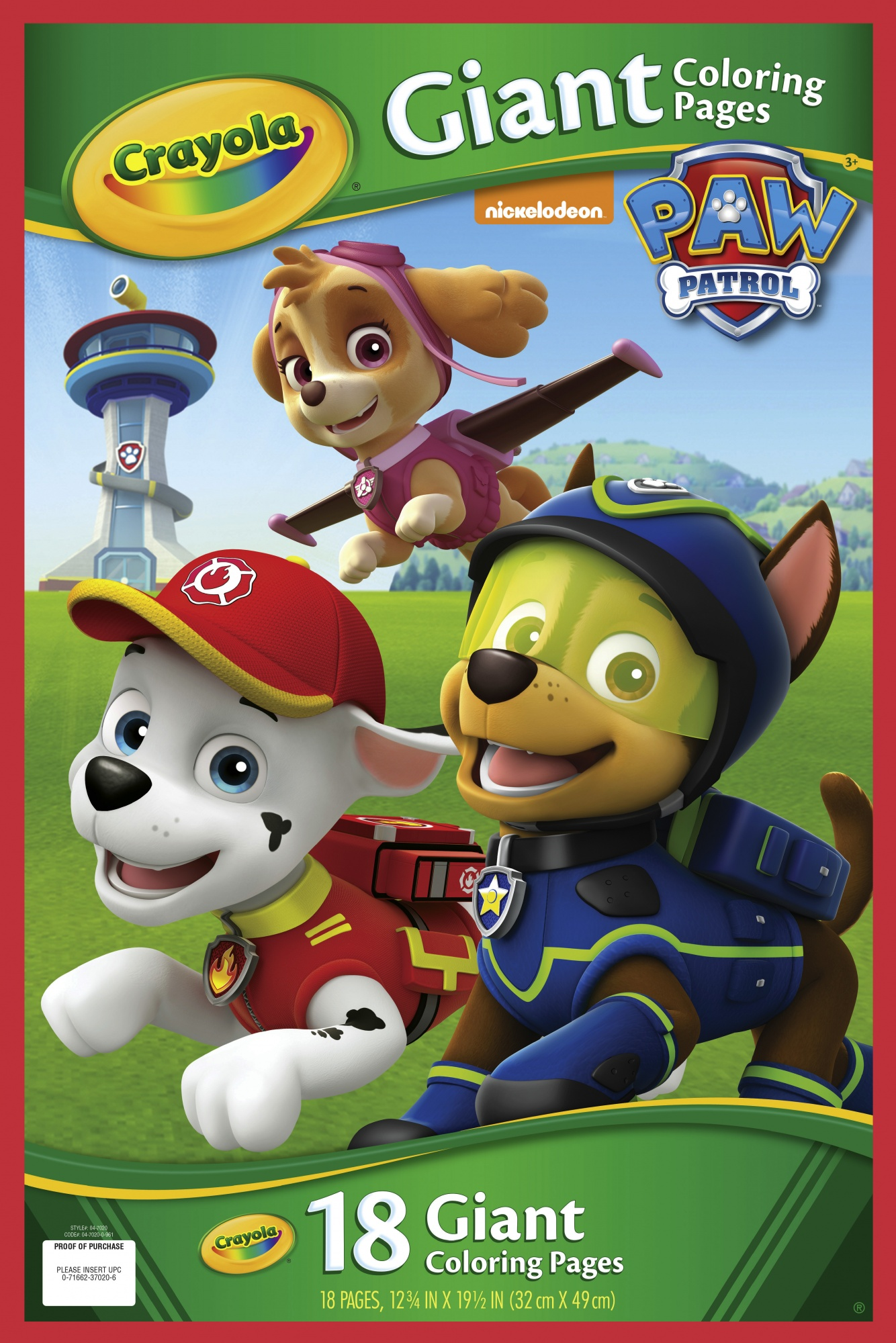 Crayola Giant Coloring Pages Paw Patrol 32 X 49 Cm 18 Pcs Internet