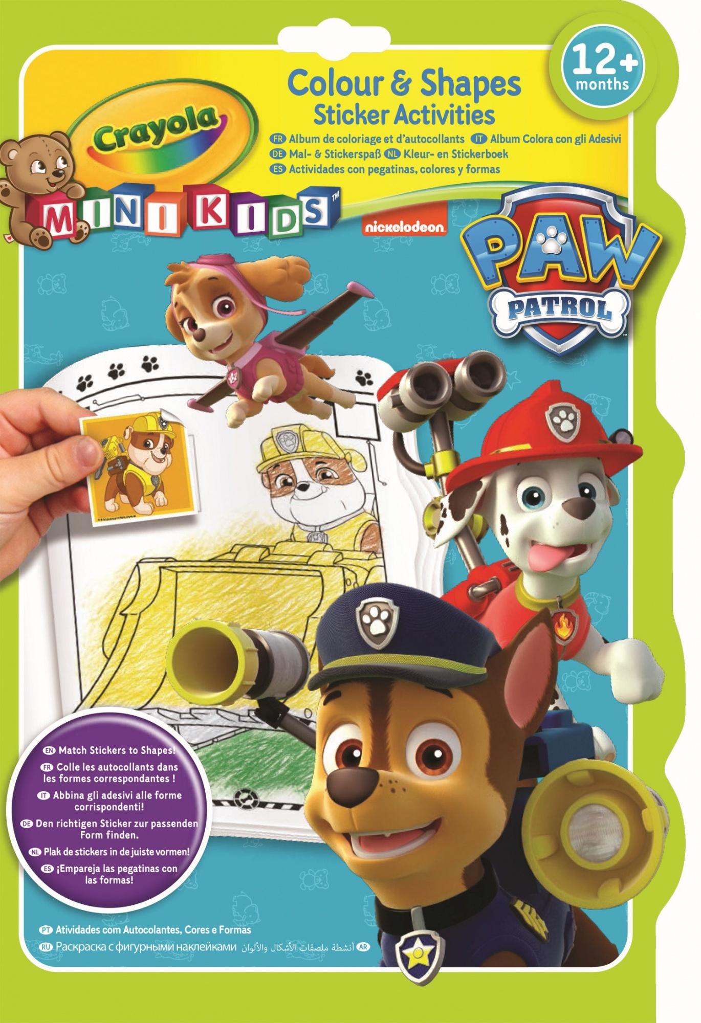 Färbung Und Aufkleber Buch Paw Patrol