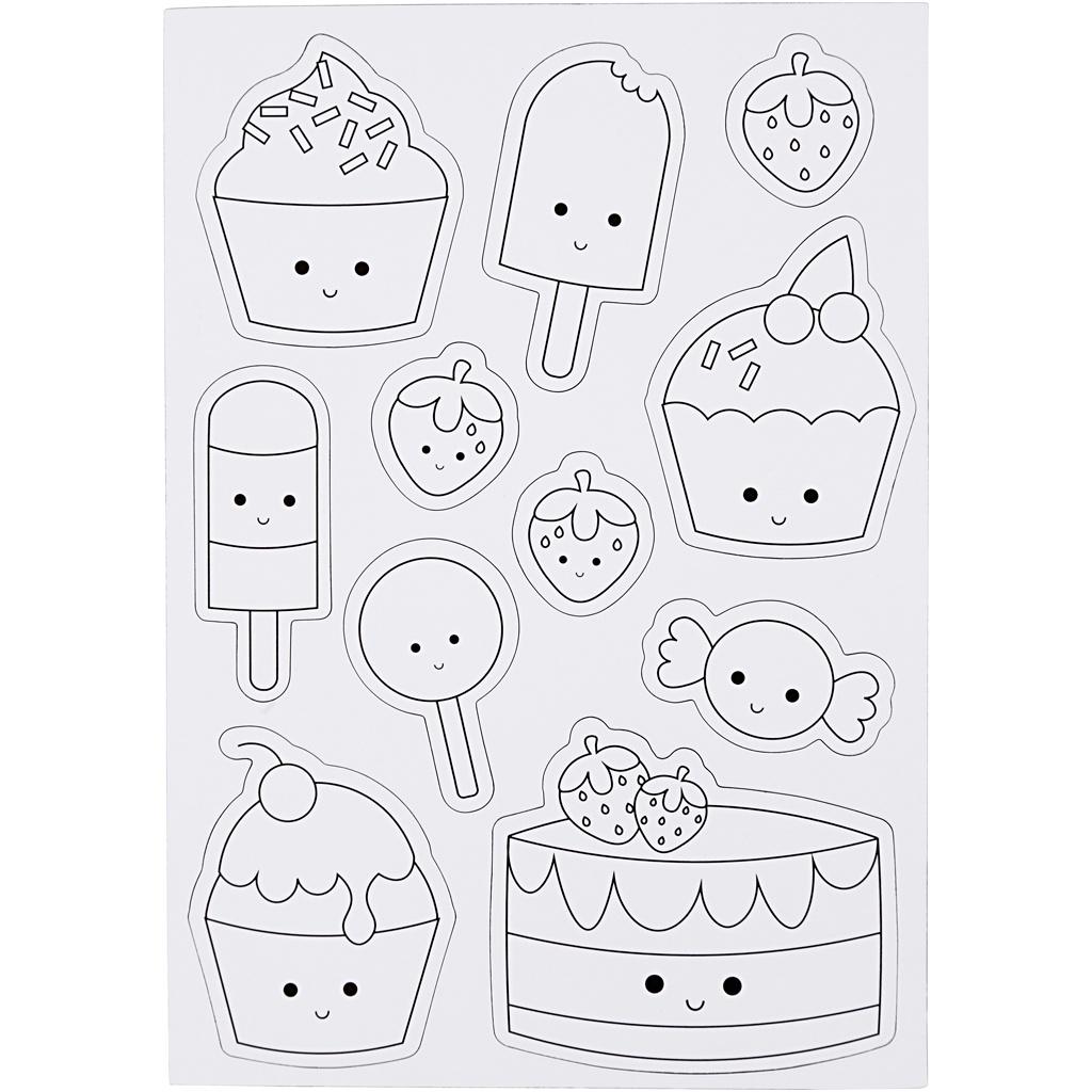 Creotime Magnetische Kleurplaten Ijsjes En Cupcakes 15x21 Cm