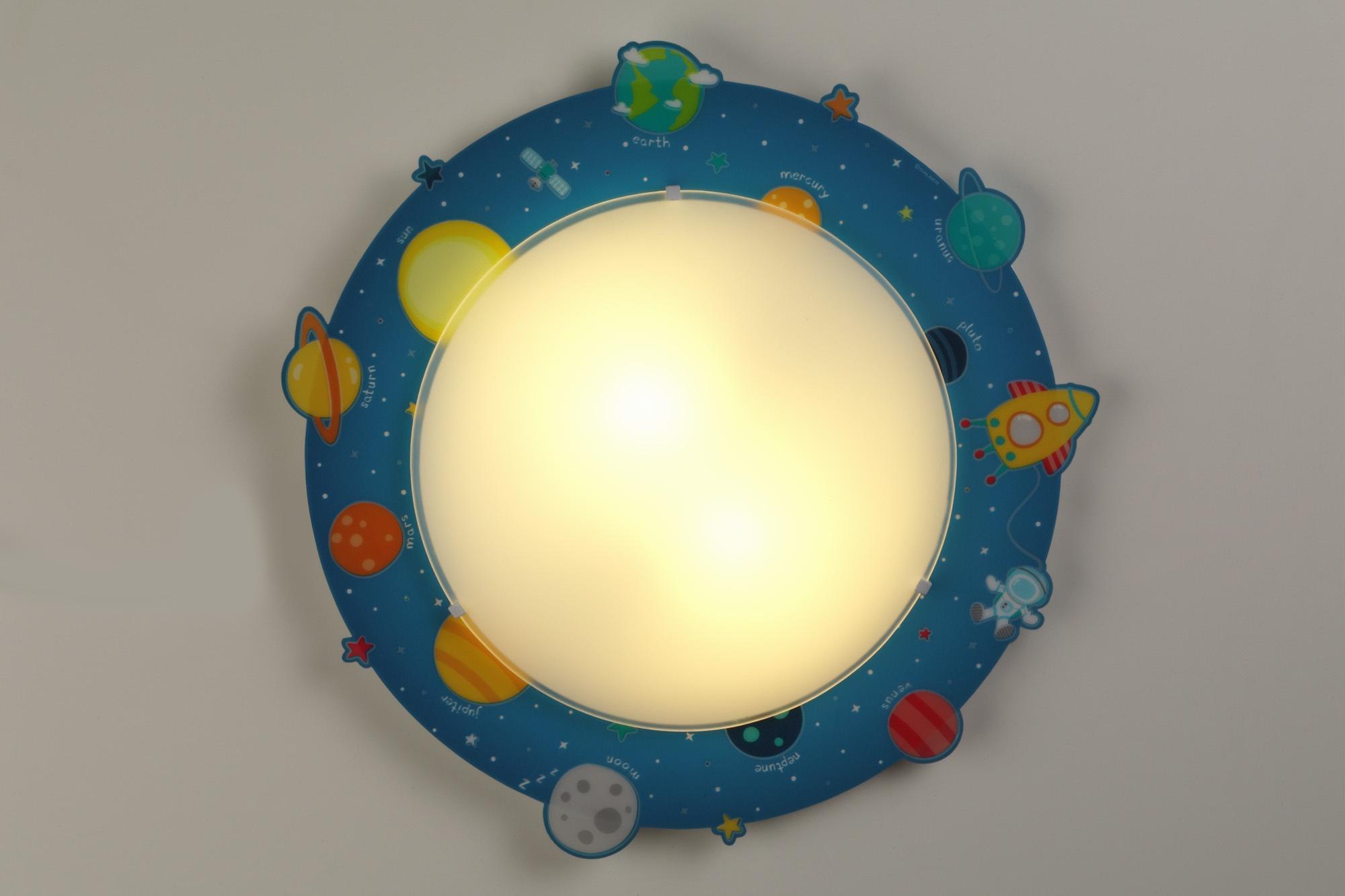 Plafonniere Blue : Dalber plafonnière 2 in 1 planets glow 43 cm blue internet toys
