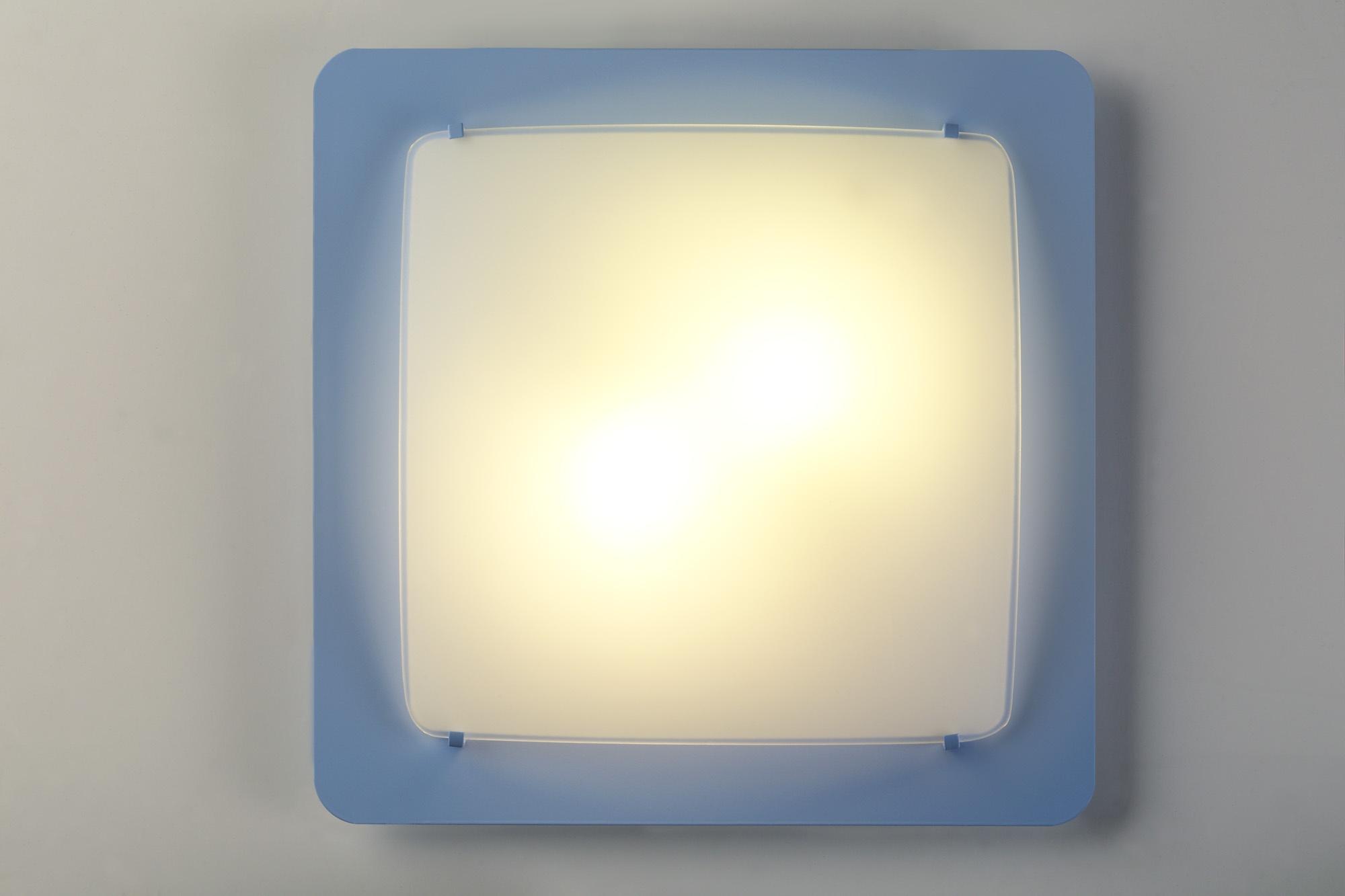 Plafonniere Blue : Dalber ceiling lamp colors square 38 cm blue internet toys