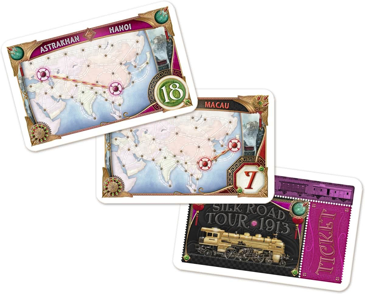 Ticket To Ride Asia Map.Days Of Wonder Expansion Ticket To Ride Asia Internet Toys