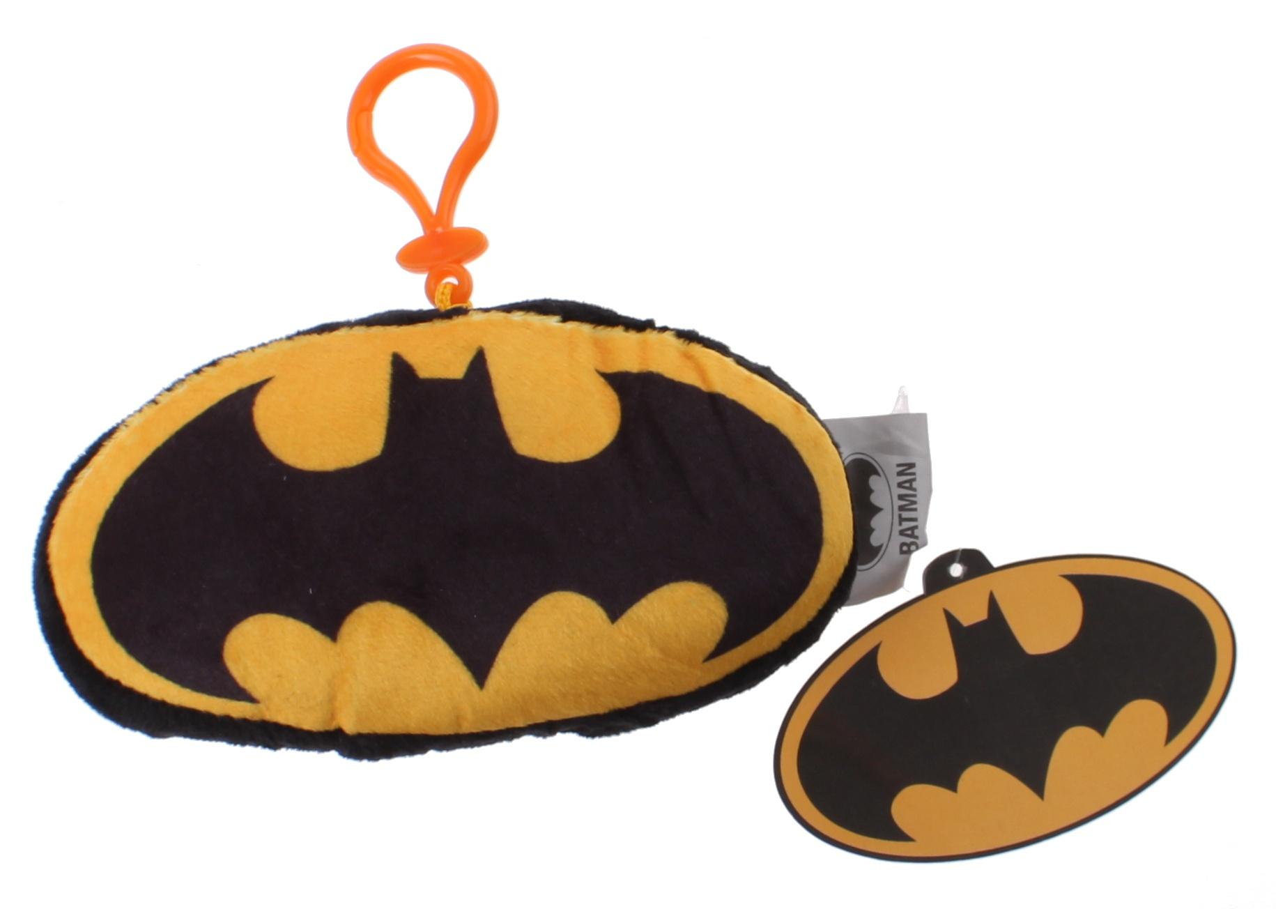 Batman Logo Mit Clip 14 Cm Plüsch Schwarzgelb