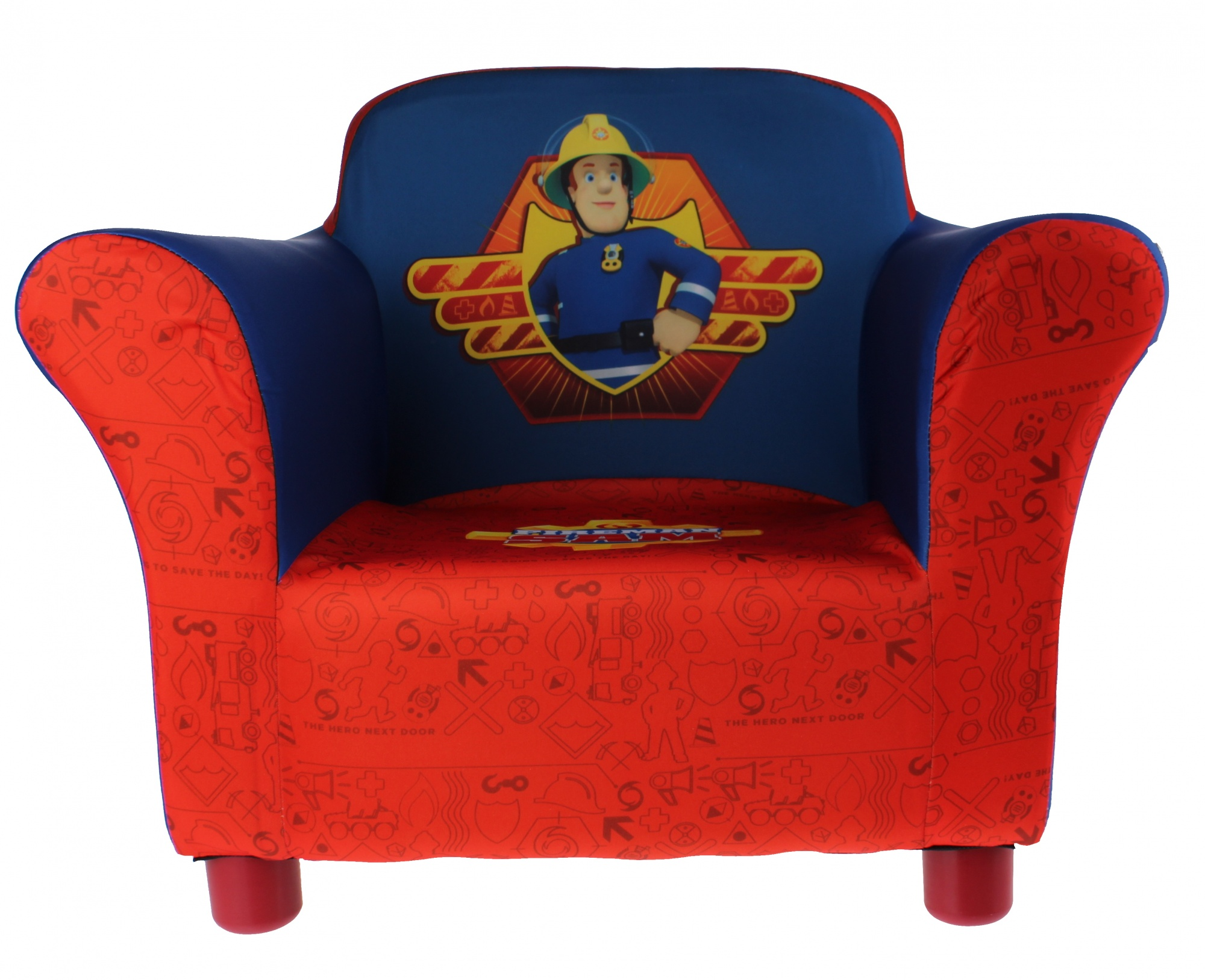 Brandweerman Sam Garage : Delta kids fireman sam chair red blue internet toys