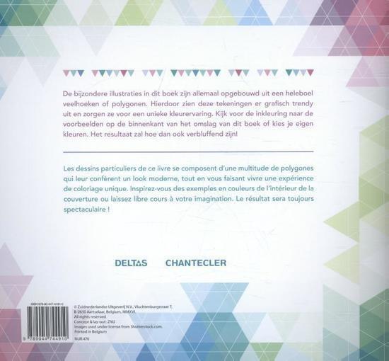 Deltas Coloring book Poly Art Color 22 cm - Internet-Toys