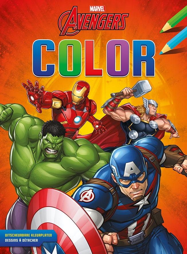 Kleurplaten Lego Avengers.Sticker Book Marvel Avengers Color