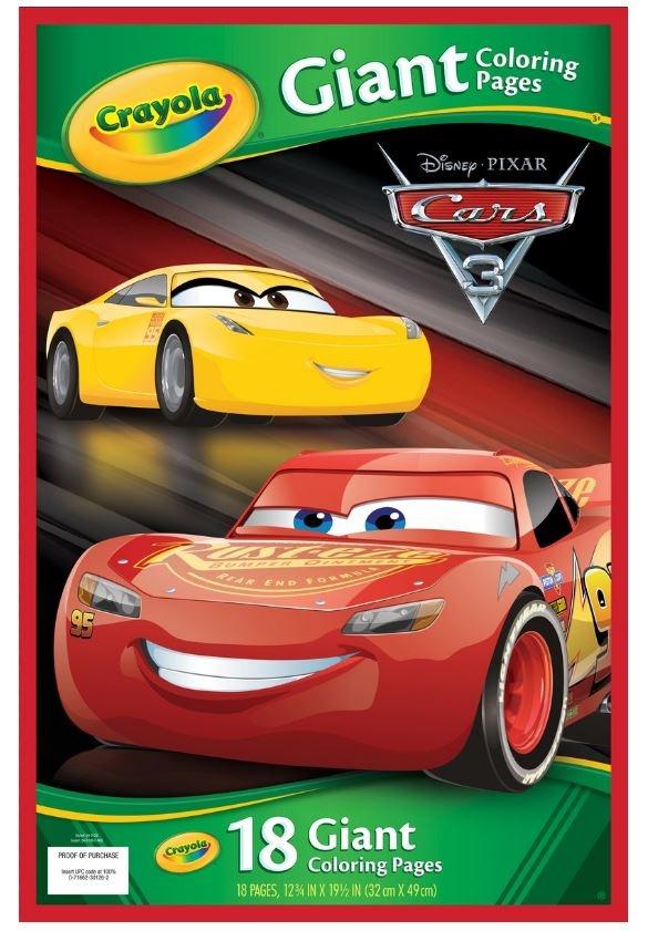 Disney Pixar Kleurplaten.Disney Reuze Kleurplaten Cars 18 Stuks Internet Toys