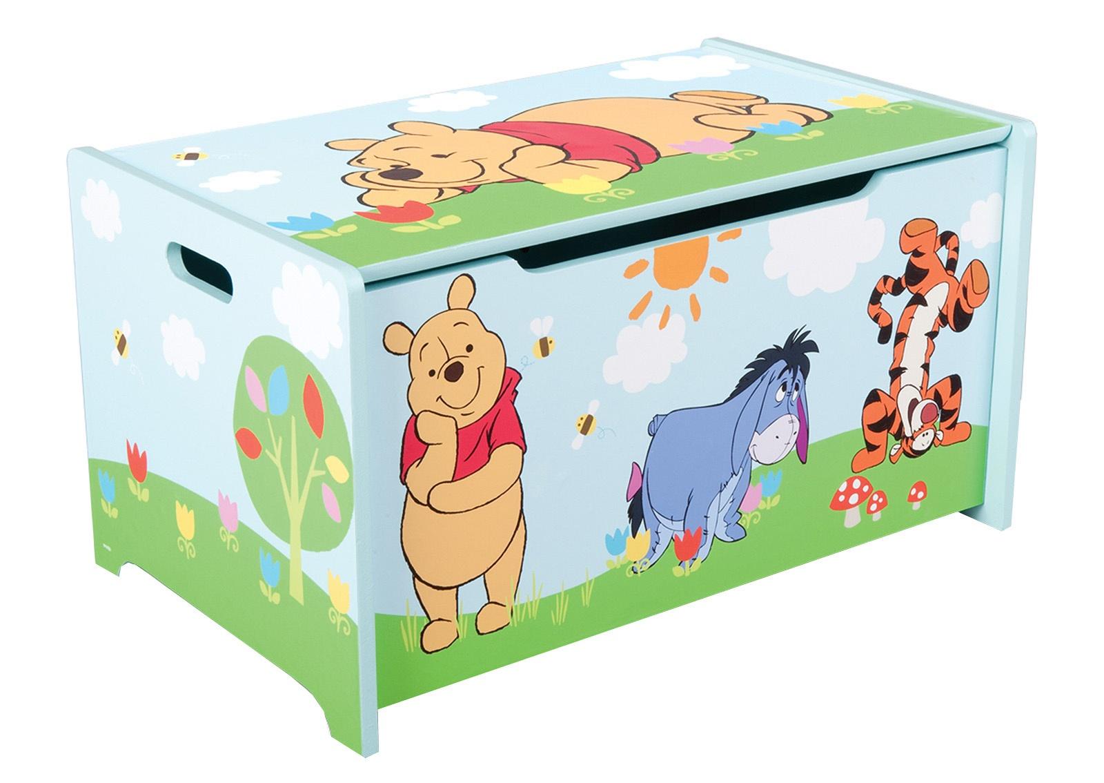 Disney Winnie the Pooh Toy Box 60 x 36 x 39 cm blue - Internet-Toys