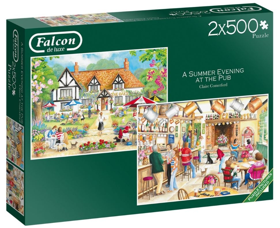 Falcon Jigsaw puzzle A Summer Evening at the Pub 2x500