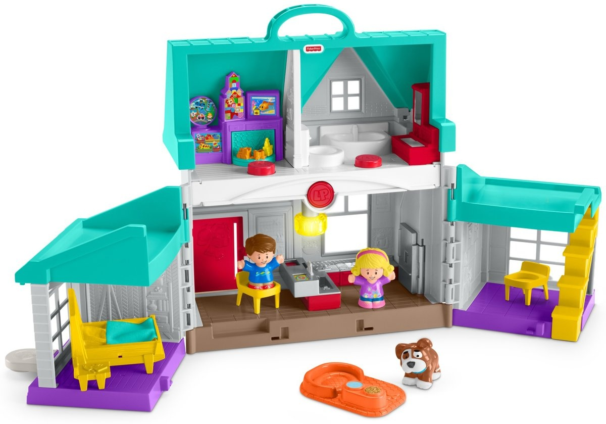 Fisher Price Play Set Little People House Handy Helpers