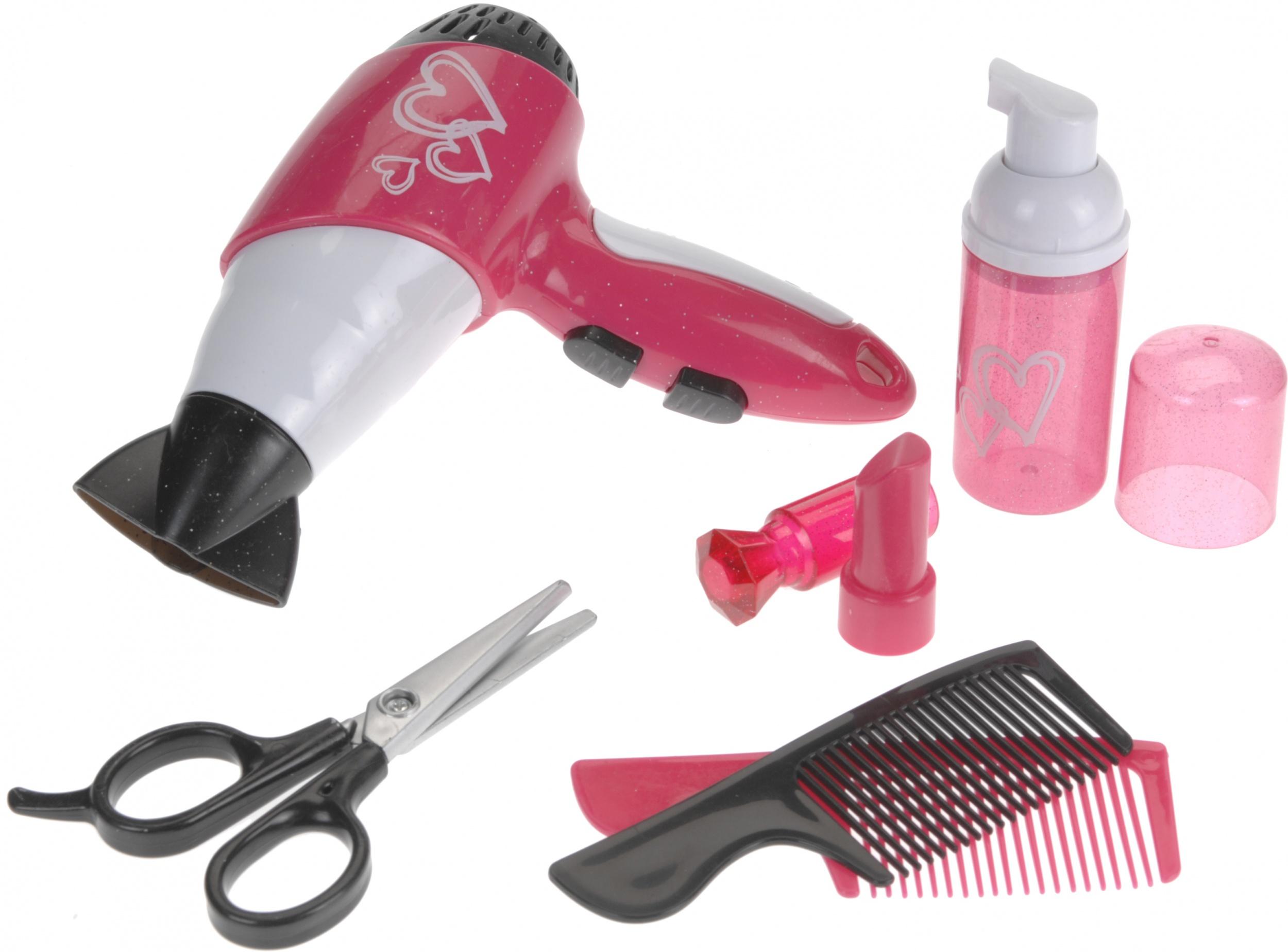 frais frais 100% de qualité supérieure style attrayant sèche-cheveux avec sèche-cheveux et accessoires 6-pièces rose