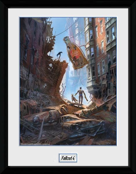 Gb Eye Poster In Frame Fallout 4 Street Scene 30 X 40 Cm Internet Toys