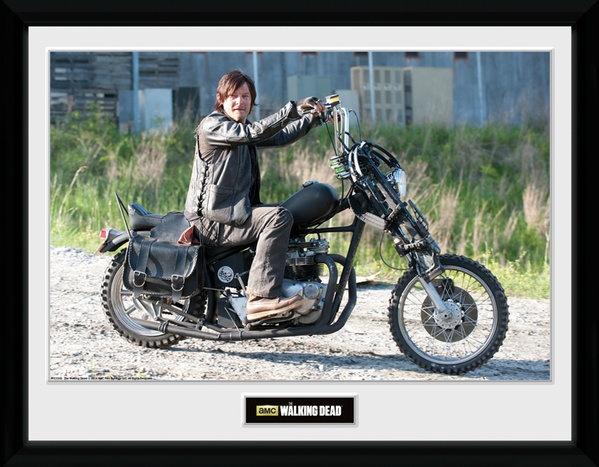 Gb Eye Poster In Frame The Walking Dead Daryl Bike 30 X 40 Cm