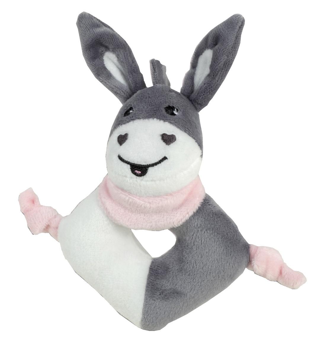 grab ring donkey grey/pink 15 cm