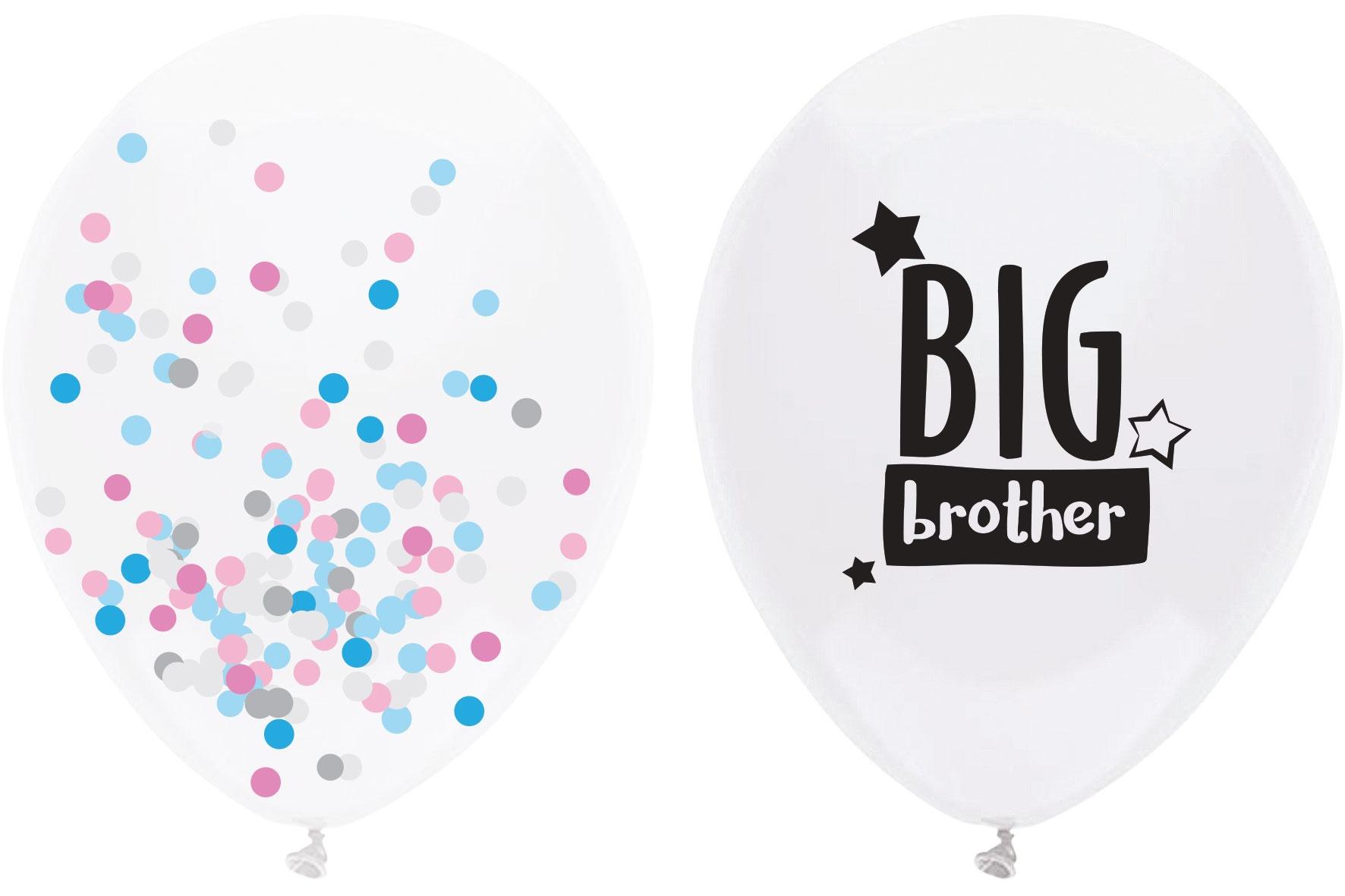 balloons 'big brother' white 40 cm 2 pieces
