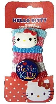 d1f3aa6cd Hello Kitty hair bows 6-piece pink / blue - Internet-Toys