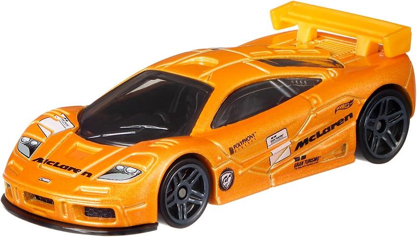 hot wheels gran turismo mclaren f1 gtr orange 7 cm - internet-toys