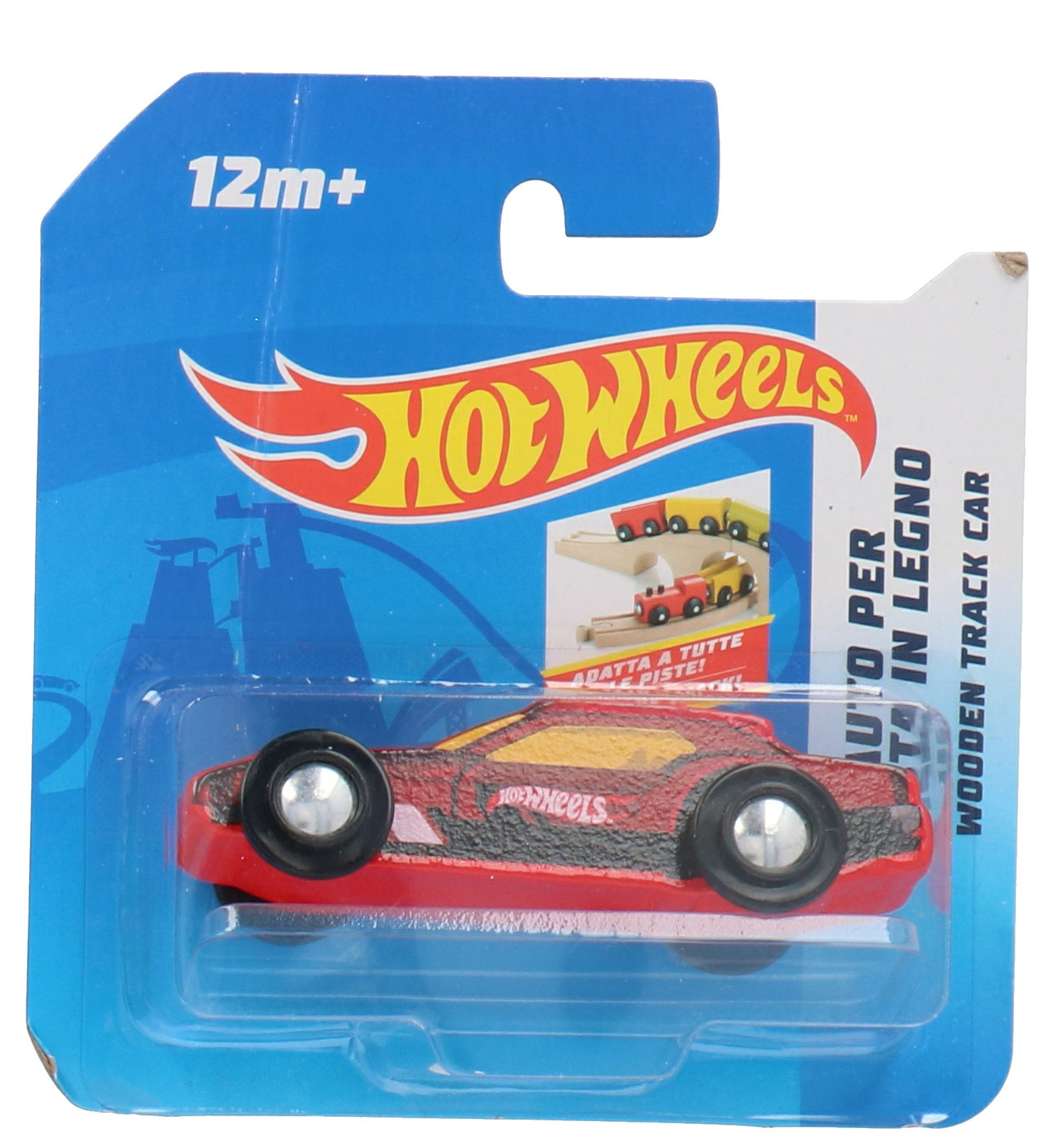 Hot Wheels Wooden Car Free Wheel9 X 3 Cm Red I