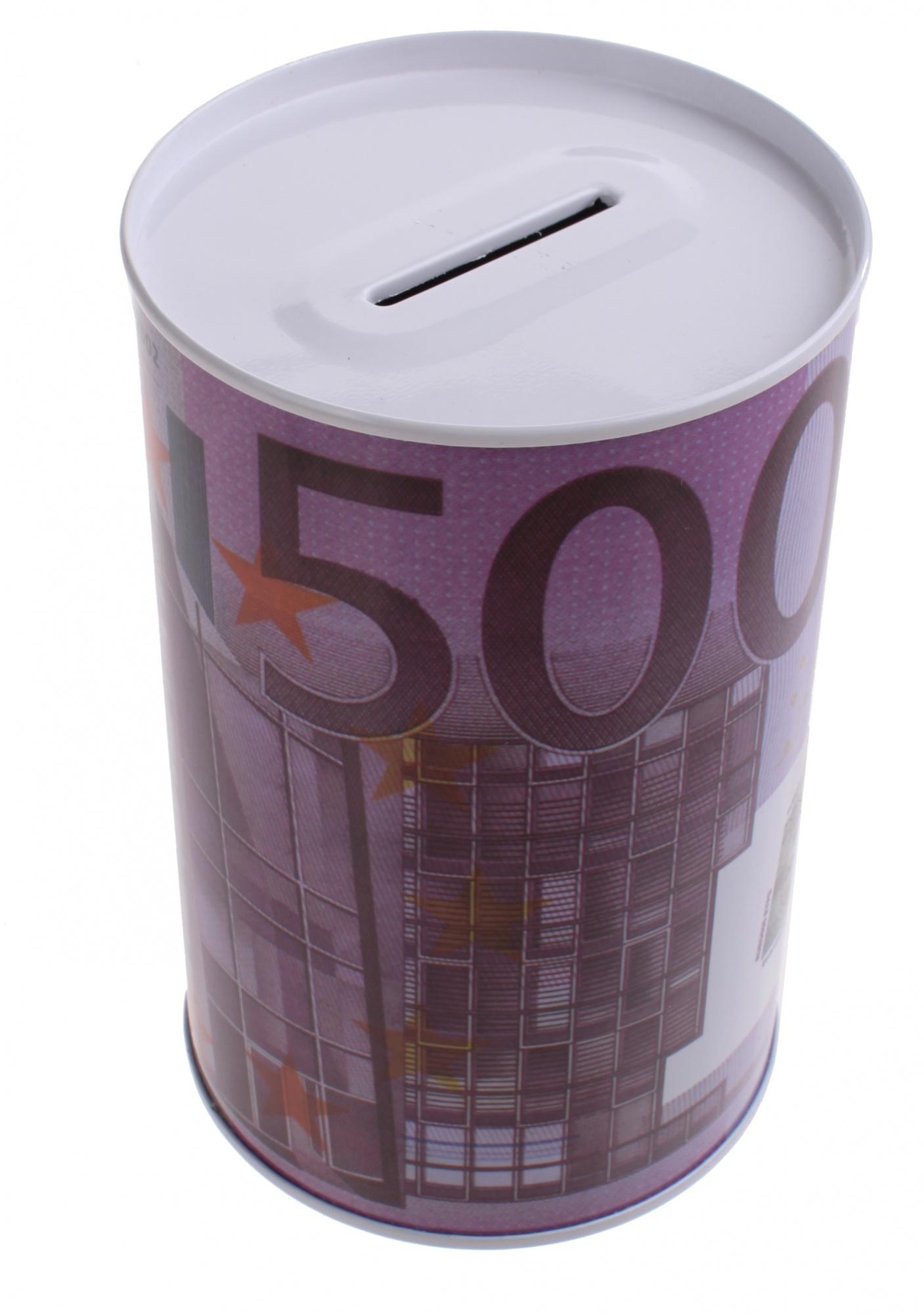 tirelire 500 en euro avec euros print violet métal Yb6yv7fg