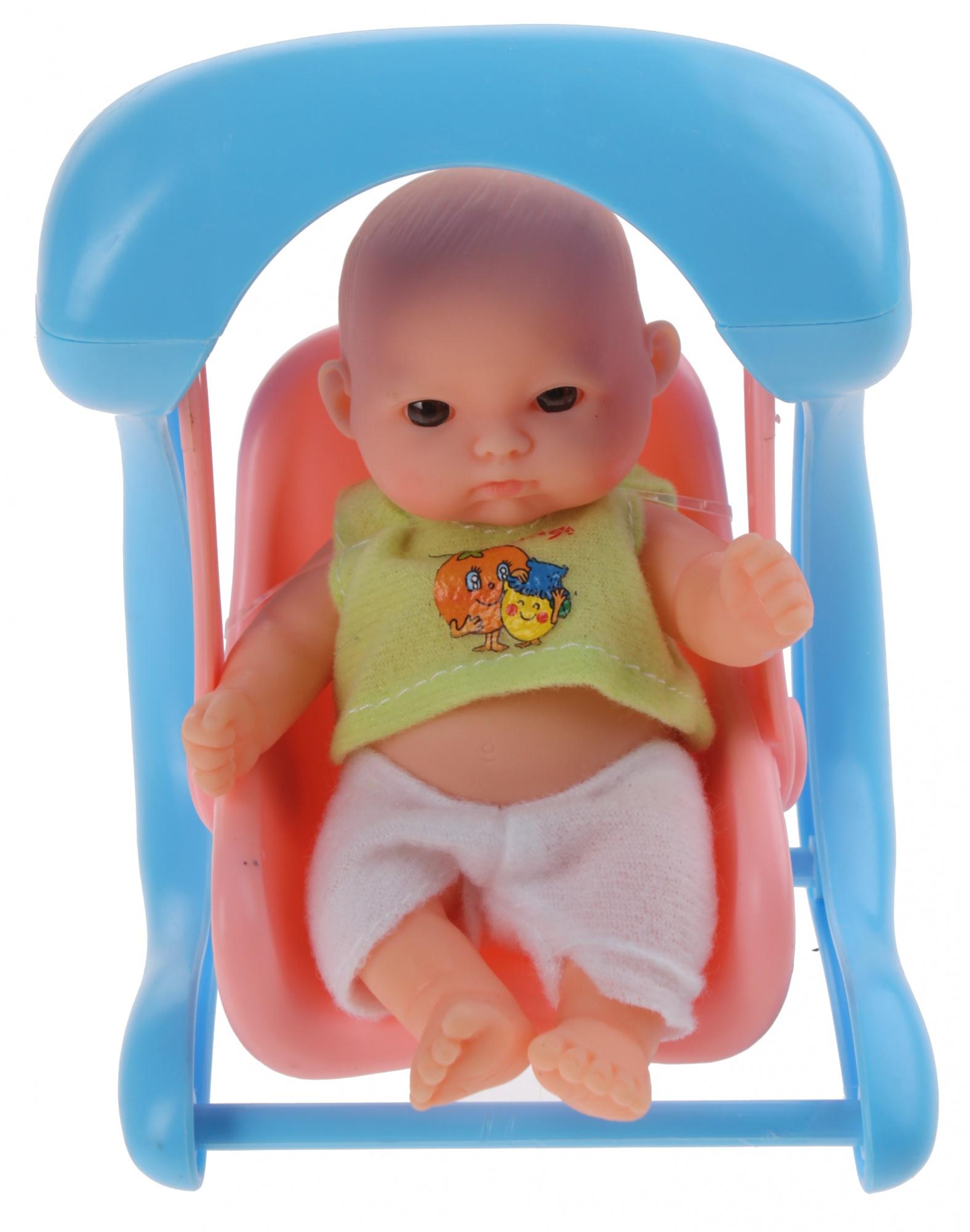 Swing Schommel Baby.Baby Doll With Swing 14 Cm