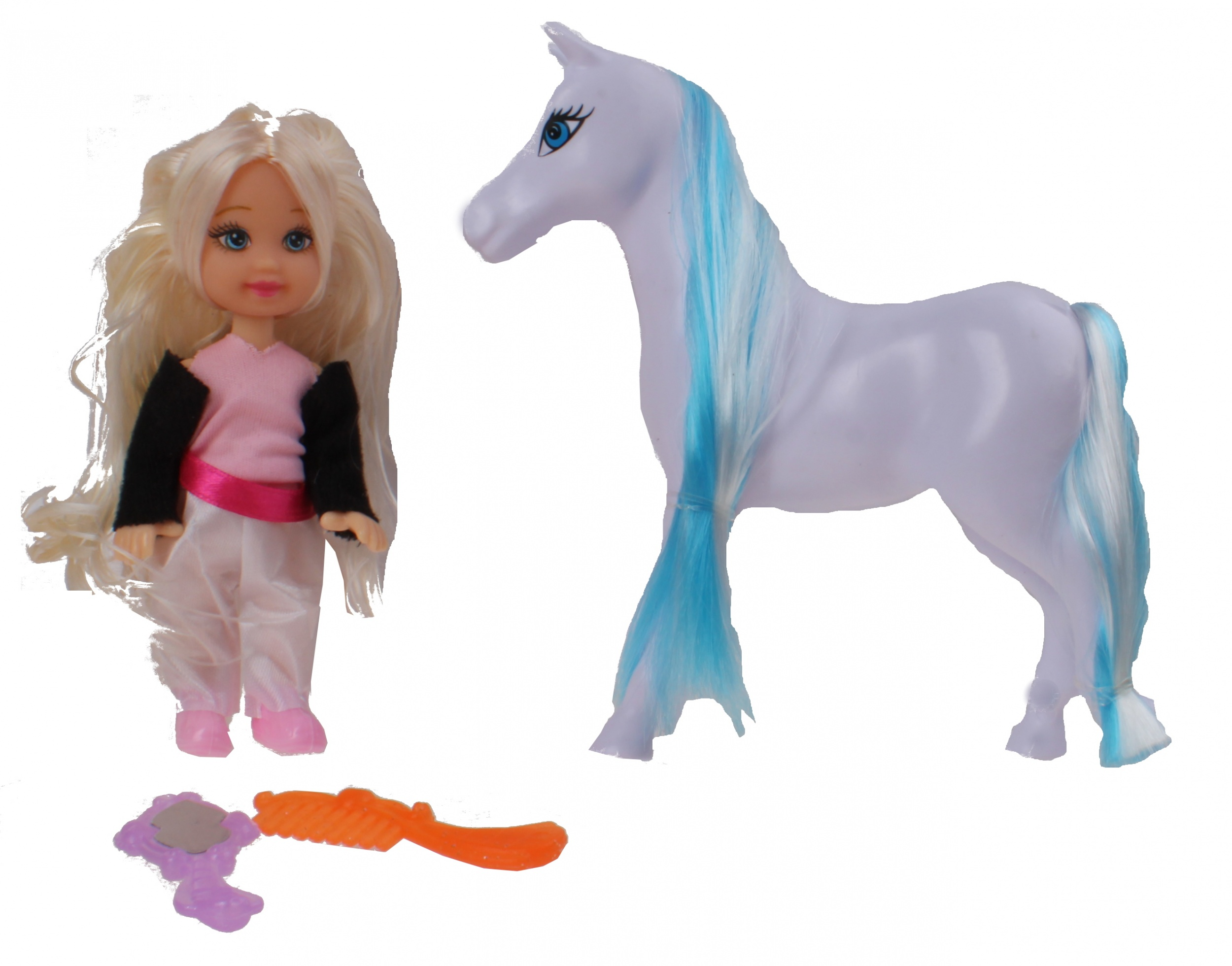 Doll Patty With Horse Blonde Black