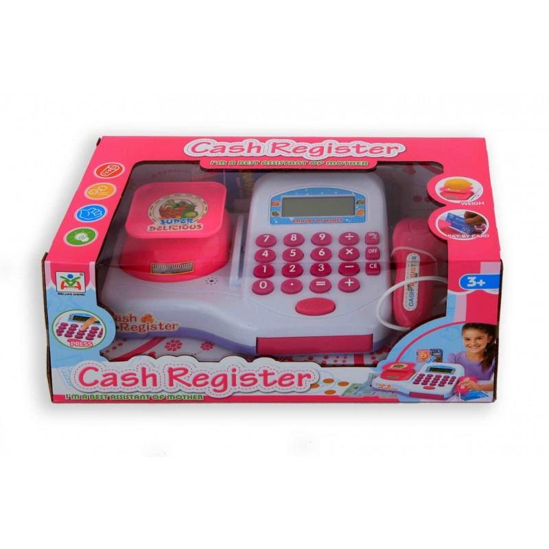 toy cash register white / pink