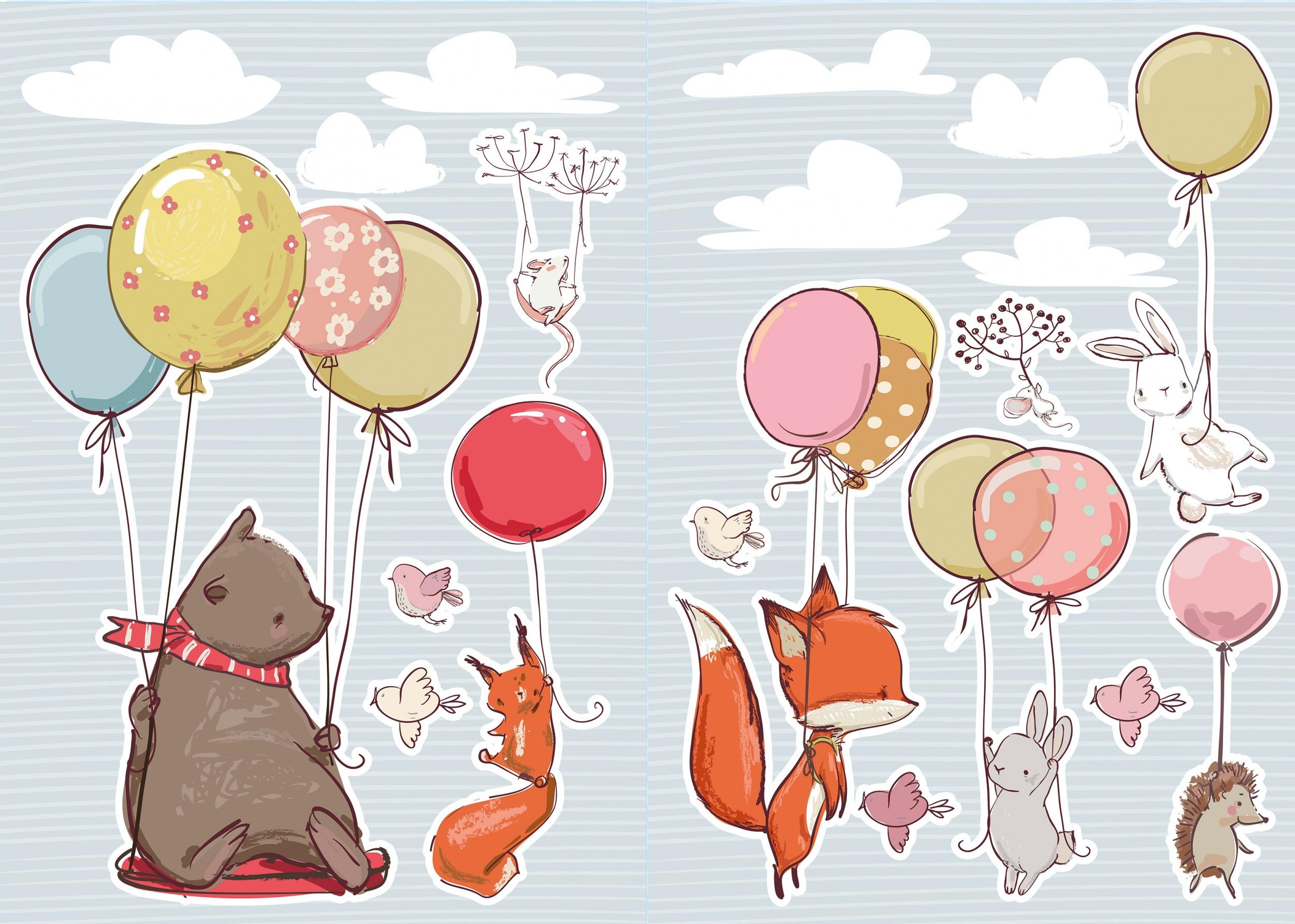 Muurstickers Den Haag.Kids Decor Wall Stickers Flying Animals 20 Piece Internet Toys