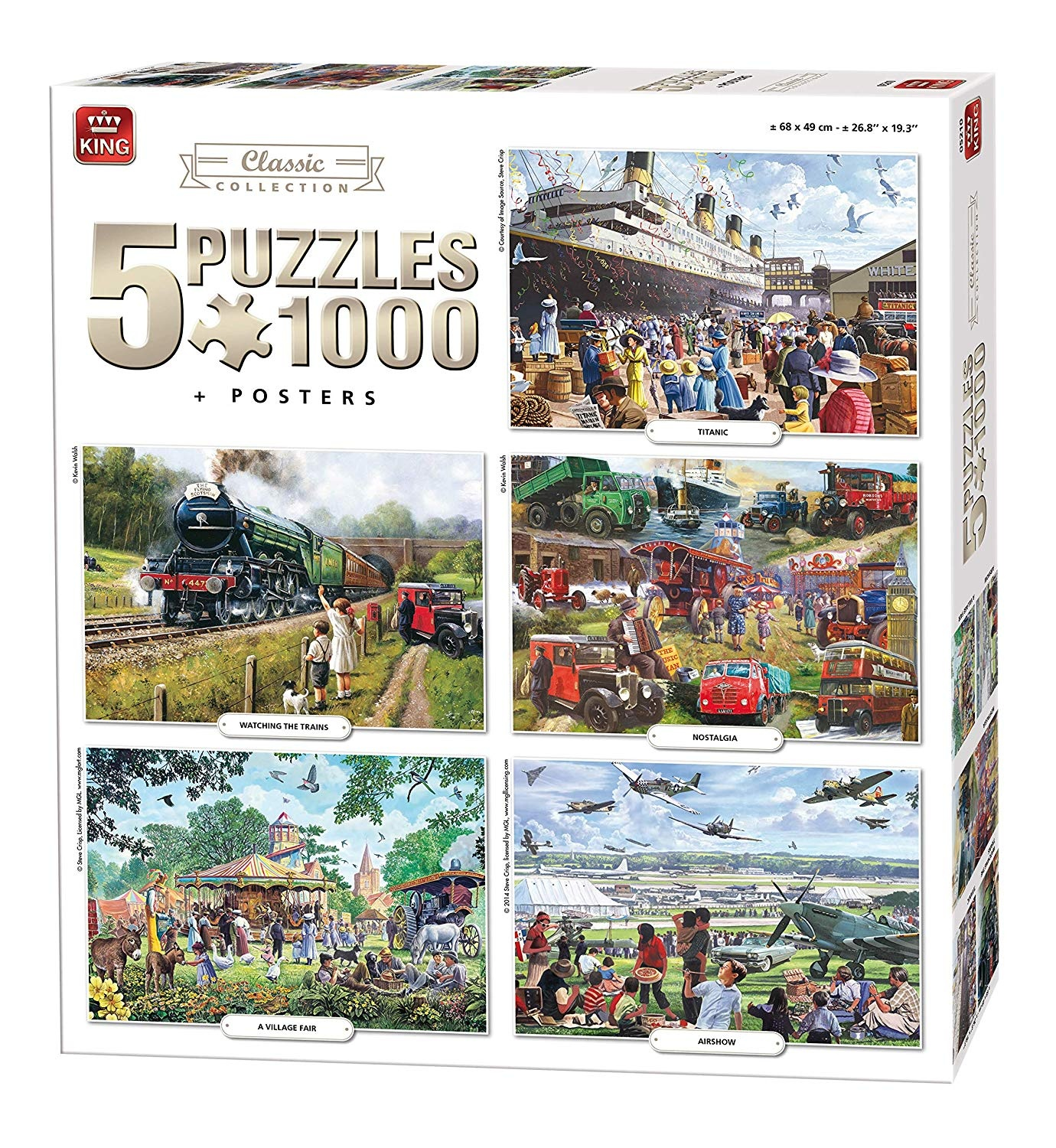 King jigsaw puzzle Classic Collection 5 puzzles 1000 pieces